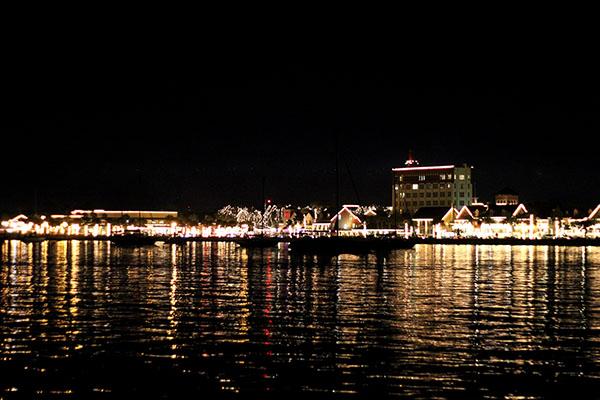 Nights of Lights Festival em St Augustine. O centro de longe.