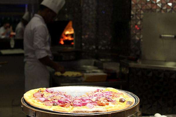 As Pizzas feitas na hora