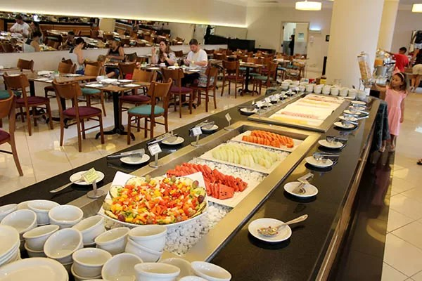 Buffet do restaurante