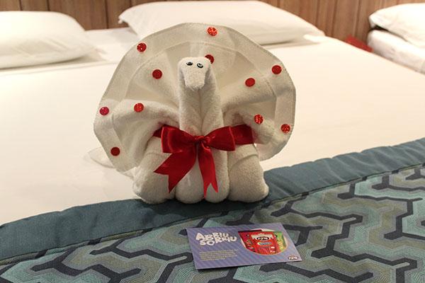 Escultura de toalhas
