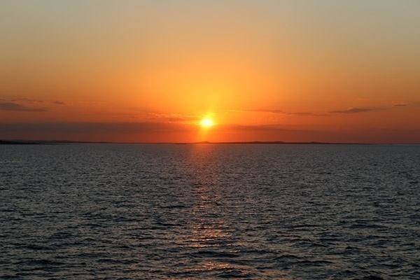 Por do sol inteiro Lago Sobradinho