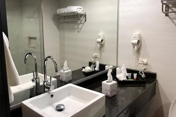 Conexao longa Panama Riande Resort banheiro