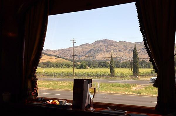 Vista do Napa Valley do Wine Train