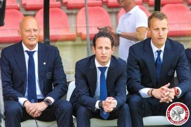 /03-09-2017: Voetbal: Vrouwen Ajax v Achilles 29: Amsterdam Eredivisie vrouwen Sportpark de toekomst seizoen 2017-2018 L-R Kees Kalk, Benno Nihom (Trainer Ajax vrouwen)