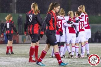 2018-02-09 Ajax vrouwen - Excelsior Barendrecht- 00006