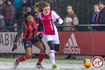 2018-02-09 Ajax vrouwen - Excelsior Barendrecht- 00007