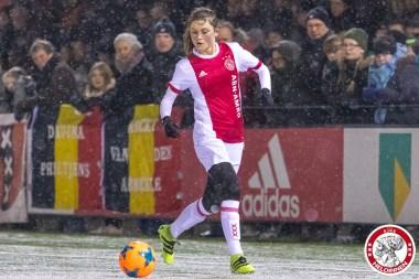 2018-02-09 Ajax vrouwen - Excelsior Barendrecht- 00014