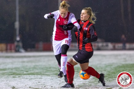 2018-02-09 Ajax vrouwen - Excelsior Barendrecht- 00018
