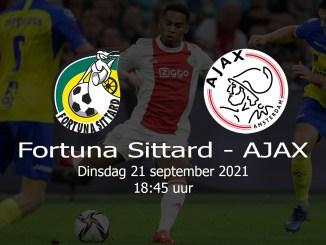 Aankondiging Fortuna Sittard - Ajax 21 september 2021