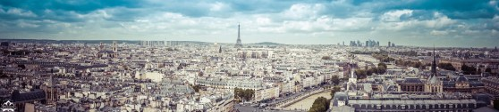 The Paris skyline, a perfect mix of the old and the new.