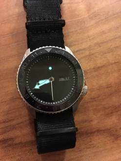 MNML Stealth mod with color matched wheels, dial, and ceramic 12hr bezel insert