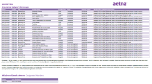 Aetna Health Information in Argentina