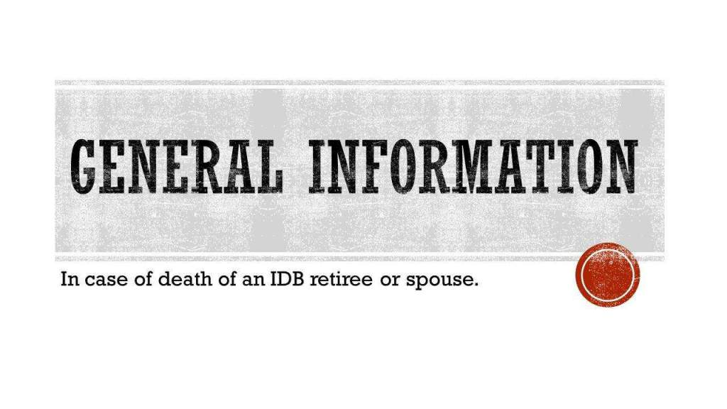 General information in case of death