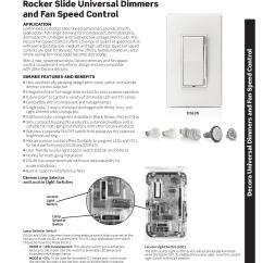 Leviton Slide Dimmer Wiring Diagram For Carrier Ac Decora Rocker Universal Dimmers Ajb Sales