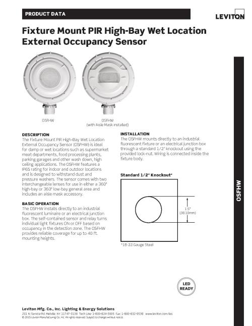 small resolution of leviton osfhw wet location external high bay occupancy sensor