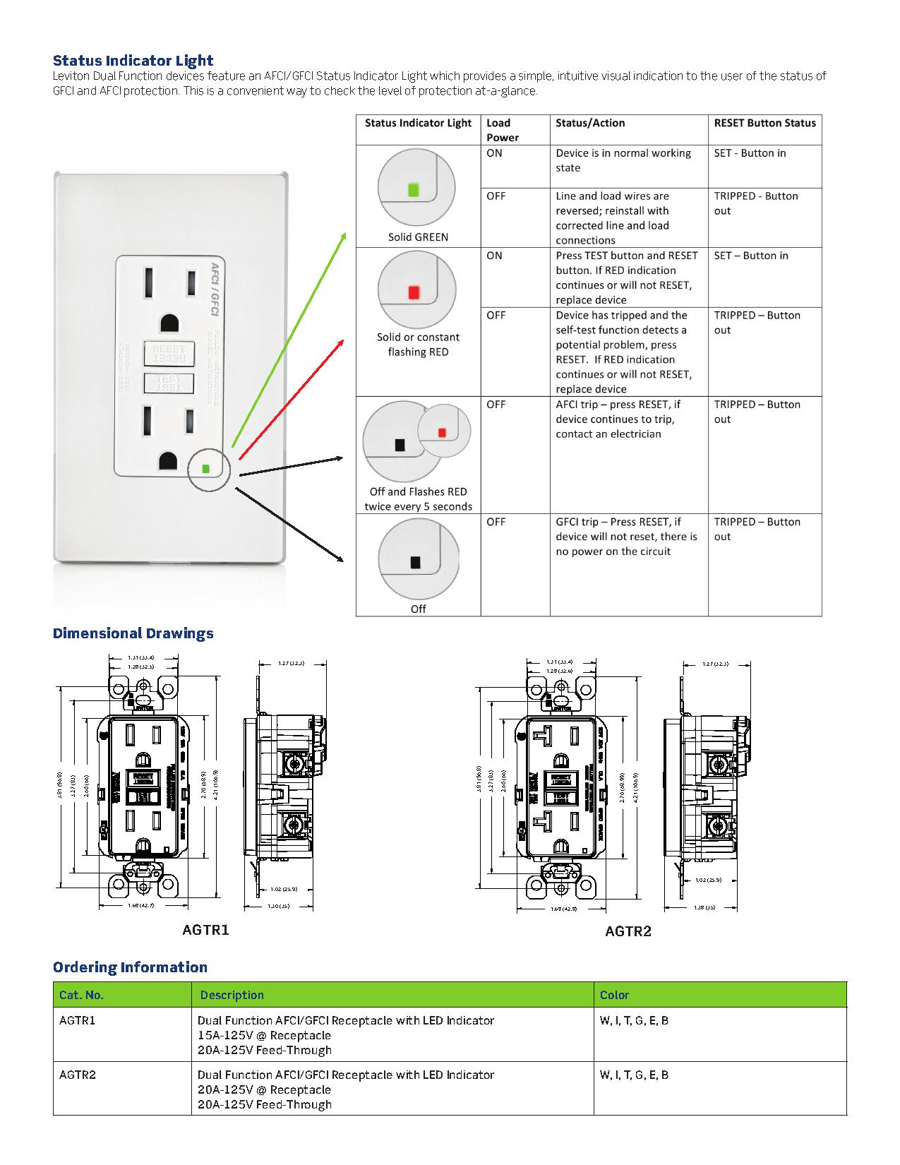 gfci wiring diagrams jaguar s type radio diagram leviton osfhw wet location external high bay occupancy