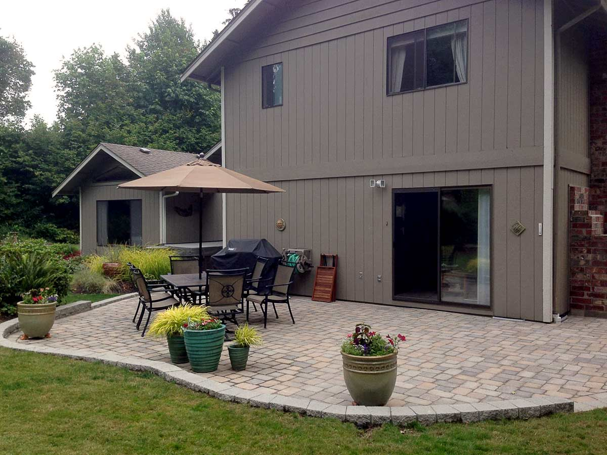 Tumwater Paver Patio Transformation Ajb Landscaping Amp Fence