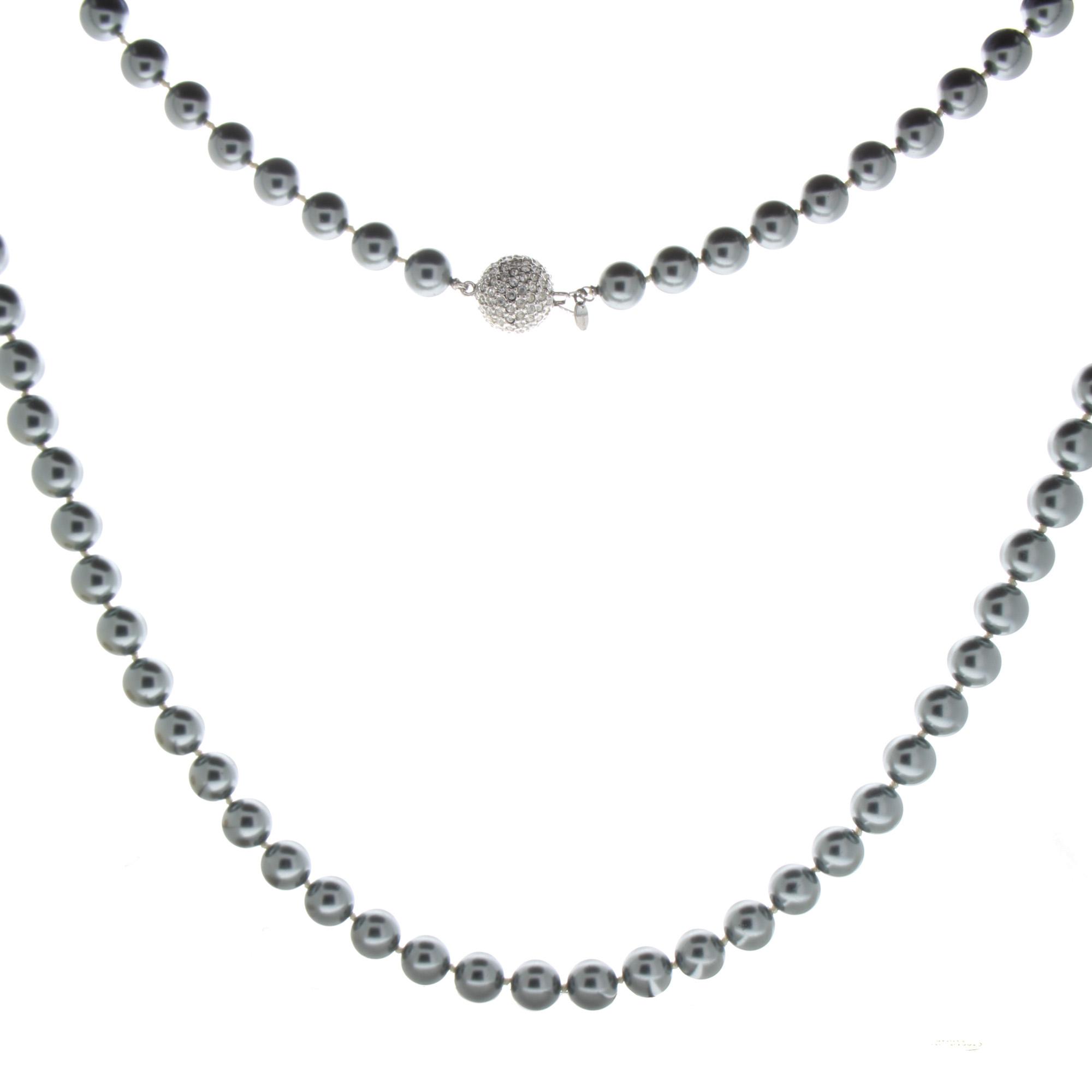 Vintage Franklin Mint Princess Diana Black Faux Pearl