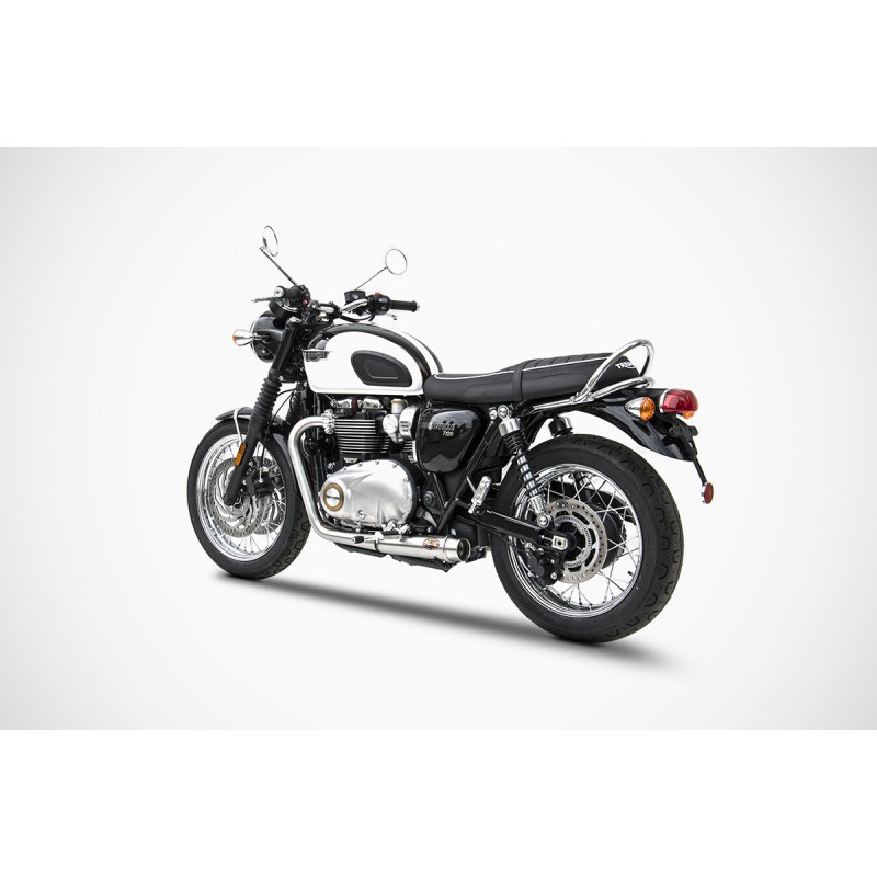 zard 2 2 low full exhaust system triumph bonneville t100 and t120