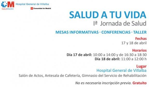 JORNADAS DE SALUD EN EL HOSPITAL VILLALBA 2015 TDAH _ de salud día 17 y 18 de Abril
