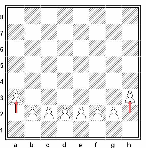Movimiento ilegal peon ajedrez