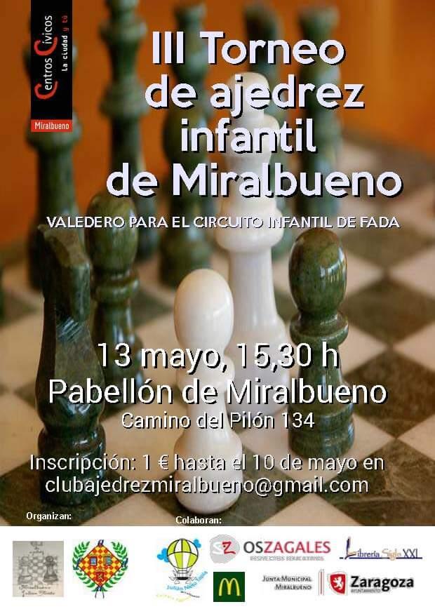III Torneo de Ajedrez Infantil Miralbueno