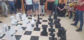 partida final ajedrez gigante