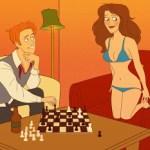 La sensualidad encantadora de las ajedrecistas