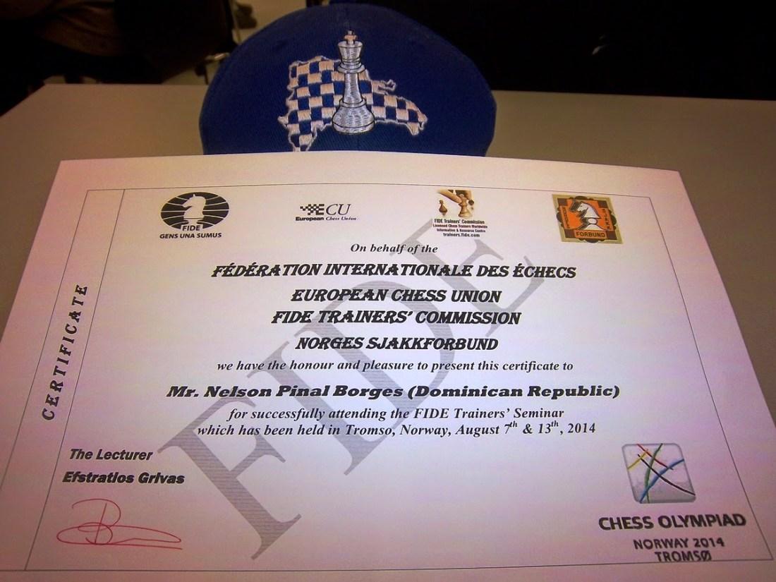 Participación en el Seminario para FIDE Trainers, Tromso, agosto 2014