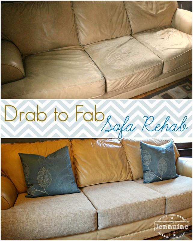 Tutorial DIY Upholstery Sofa Rehab A Jennuine Life