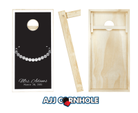 """Wedding Tie and Necklace"" Cornhole Set"