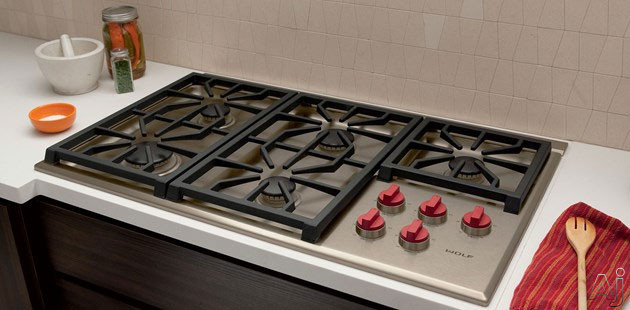 Wolf CG365PS 36 Professional Gas Cooktop with 5 Dual
