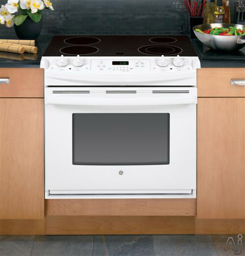 GE JD630DFWW 30 Dropin Electric Range with 4 Radiant Elements 44 cu ft Self Clean Oven