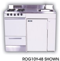 Acme ROG10Y48 Compact Kitchen with Stainless Steel ...