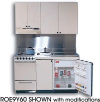 Acme ROG10Y63 Compact Kitchen with Stainless Steel ...