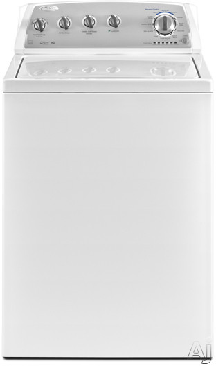 Whirlpool WTW4900BW 27 TopLoad Washer with 38 cu ft Capacity 12 Cycles 5 Temperatures
