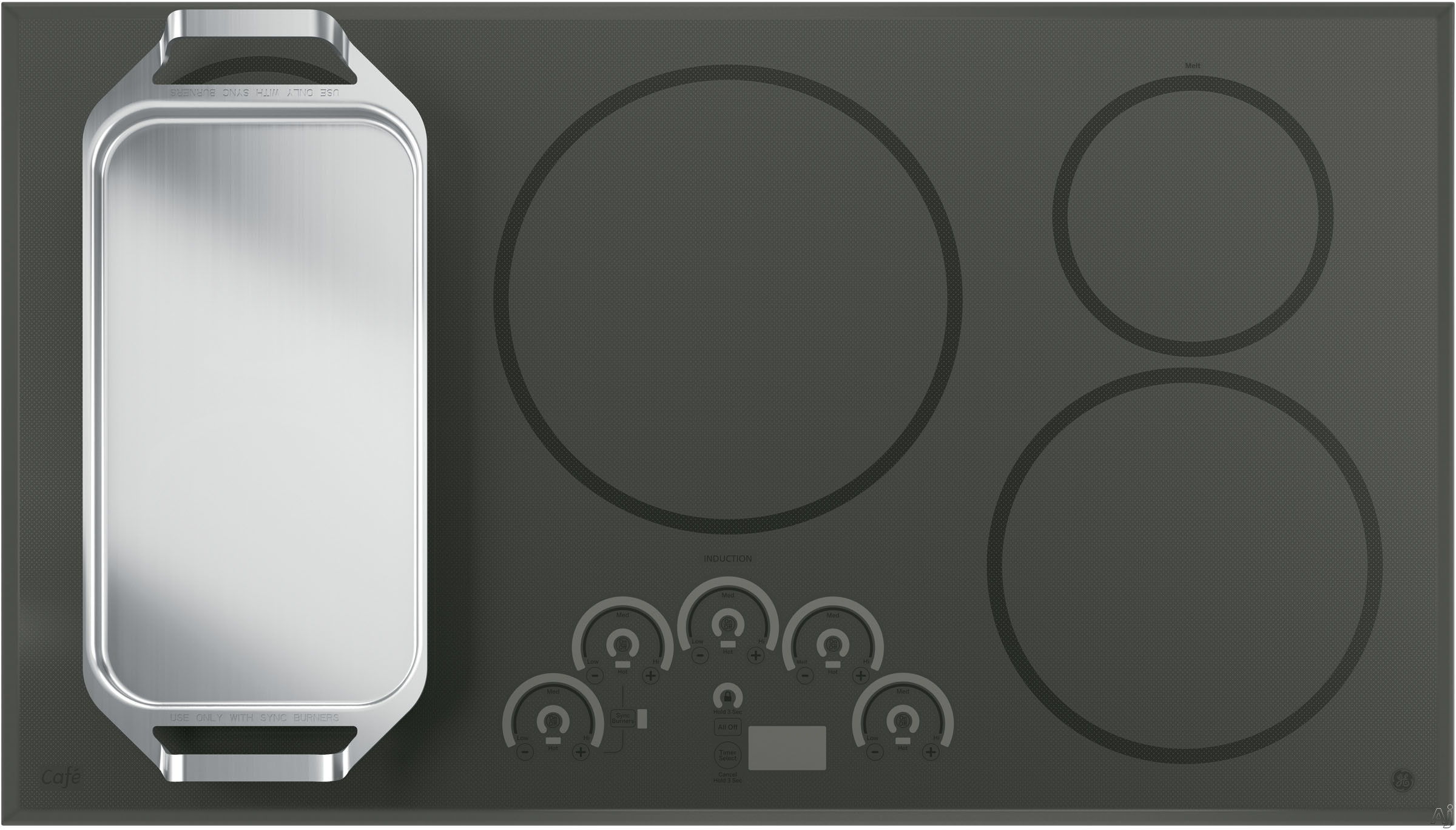 GE CP9536SJSS 36 Smoothtop Electric Cooktop With 5
