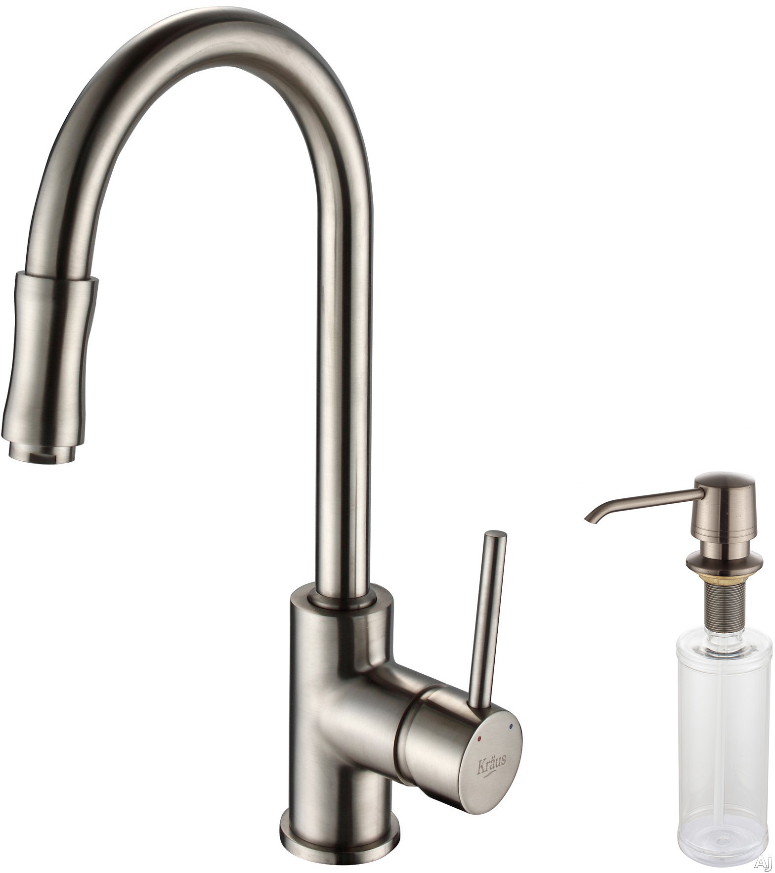 spray head kitchen faucet copper accents kraus kpf1622ksd30sn single lever pull out