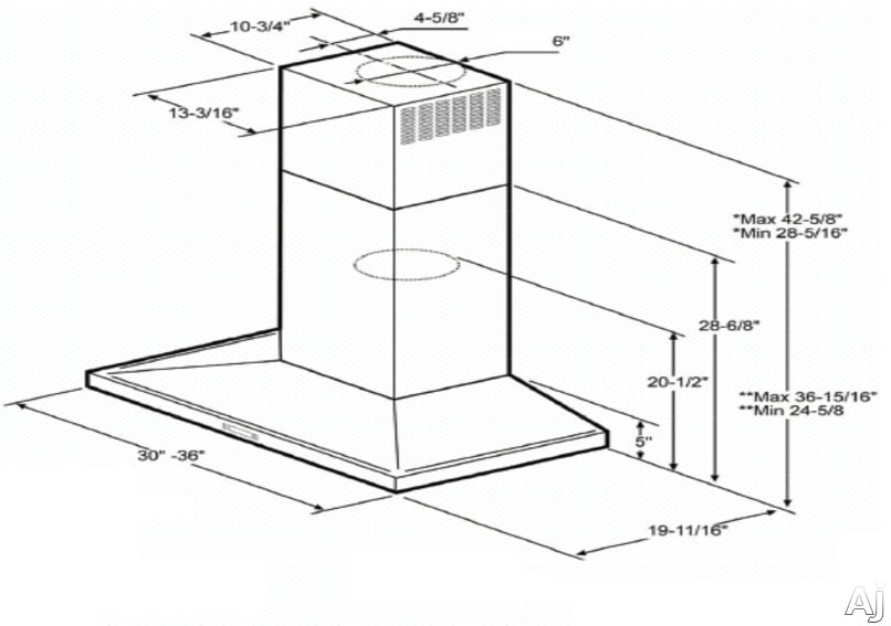 Elica ELG630S2 Wall Mount Chimney Hood with 600 CFM