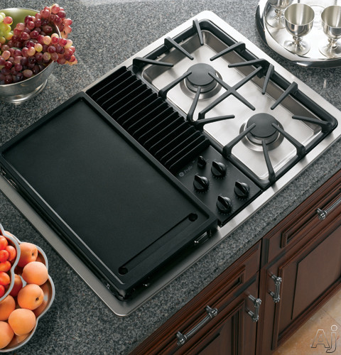 GE JGP990 30 Inch Downdraft Gas Modular Cooktop with Three