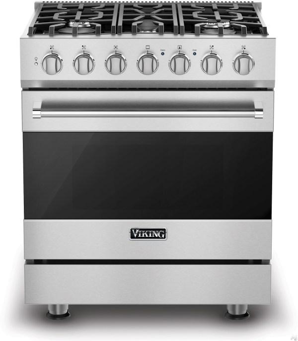 Viking 3 Series Rvgr33025b 30 Freestanding Gas Range With 5 Sealed Burners 18000 Btu 40 Cu