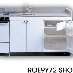 Compact Kitchen Sink Remodeling Small Acme Rog10y72 With Stainless Steel Countertop 4 Gas Burners Oven And Refrigerator 72 Width
