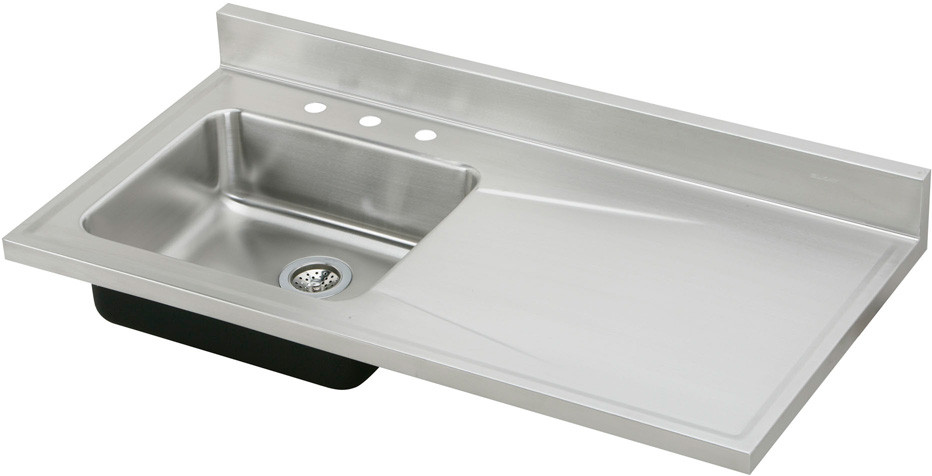 single bowl stainless kitchen sink long island design elkay s4819l4 48 inch steel top with 18 lustertone collection