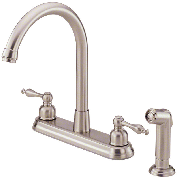 two handle kitchen faucet remodeling birmingham mi danze d422255ss double with 9 inch reach sheridan collection