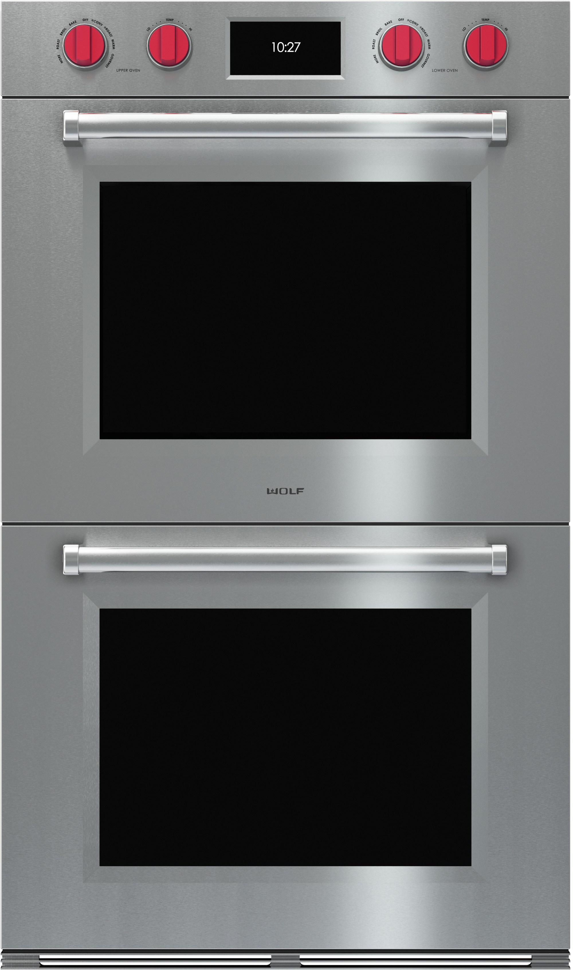 hight resolution of wolf do30pmsph 30 inch double electric wall oven with 5 1 cu ft dual verticross convection ovens 10 cooking modes self clean gourmet mode