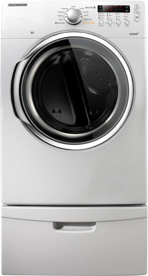 Cycle White Dv331aew Front Load Steam 3 Electric Stackable Ft 7 Dryer Samsung Cu