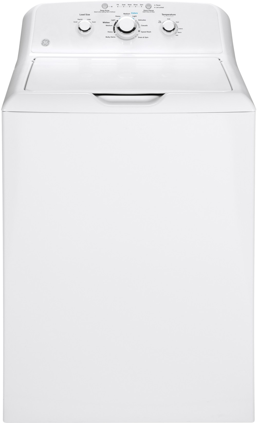 medium resolution of ge gtw330askww 27 inch 3 8 cu ft top load washer with 11 wash cycles 700 rpm deep rinse speed wash bleach and fabric softener dispensers