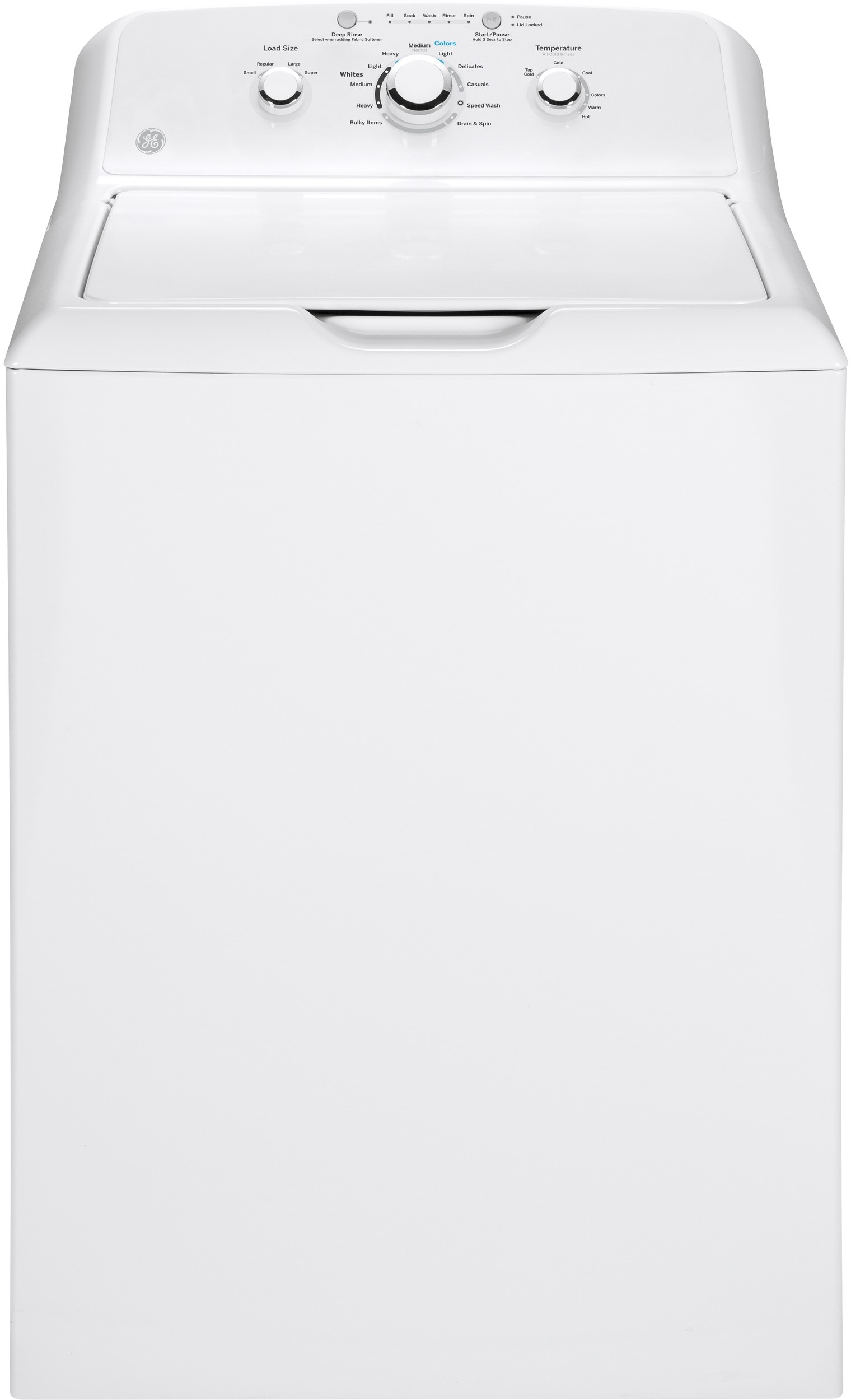 hight resolution of ge gtw330askww 27 inch 3 8 cu ft top load washer with 11 wash cycles 700 rpm deep rinse speed wash bleach and fabric softener dispensers