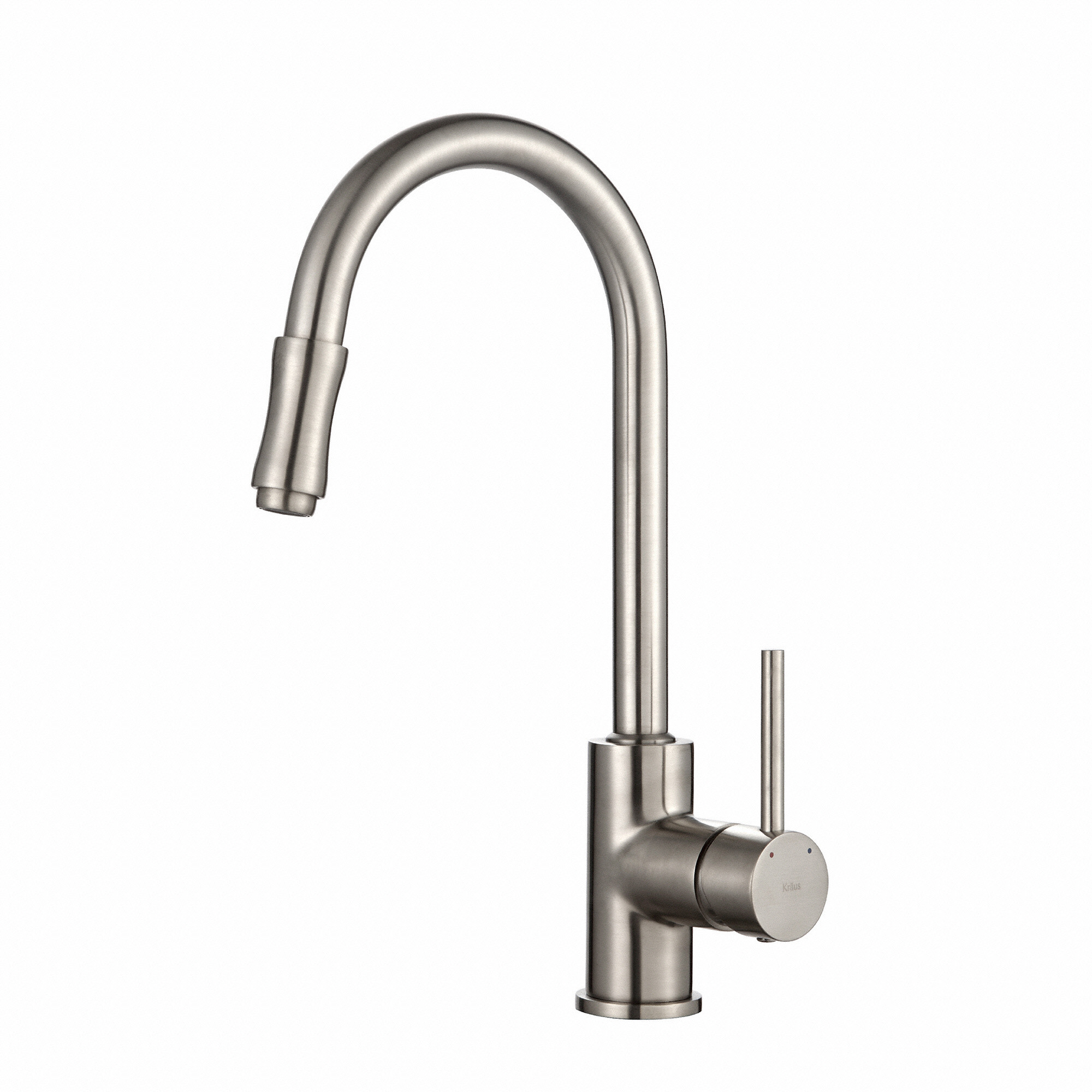 kraus kitchen faucet linoleum kpf1622sn single handle pull down with dual series