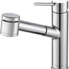 Kitchen Faucets Stainless Steel Knobs